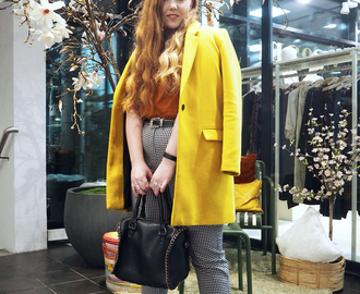 OUTFIT: Yellow Fall Coat