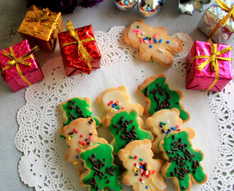 Shortbread cookies with Icing cookies - Eggless cookies recipe - Kids friendly