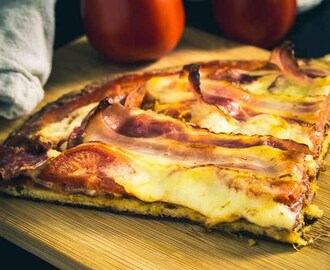 Low Carb Pizza mit Ehekrise, glutenfrei