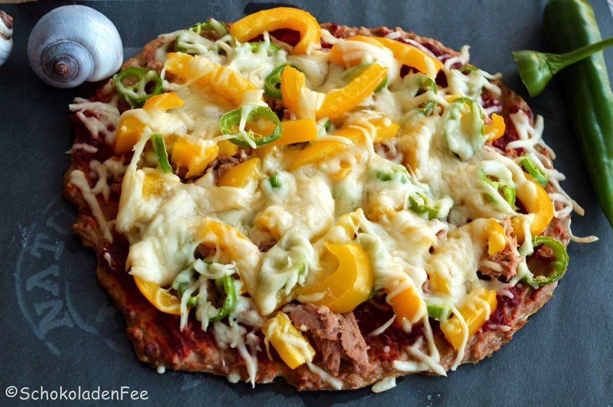 Low Carb Thunfisch Pizza extra scharf