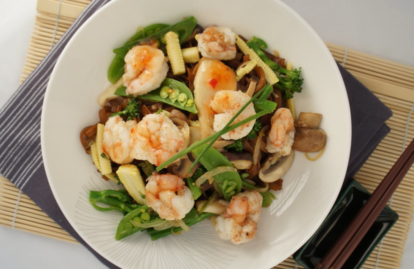 Five Spice Prawns and Rice Noodle Stir Fry