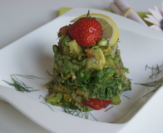 Kunterbunter Salat mit Avocado — Dressing