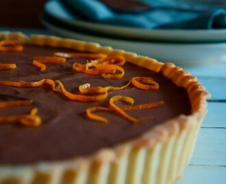 Chocolate & Orange Curd Tart