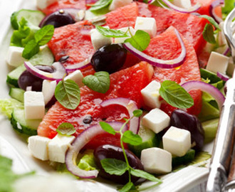 Summertime watermelon salad