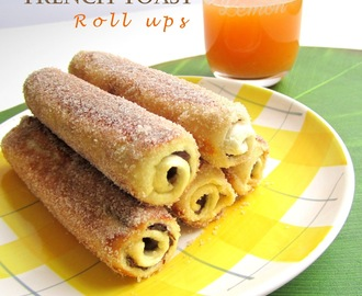 French toast roll ups alla Nocciolata