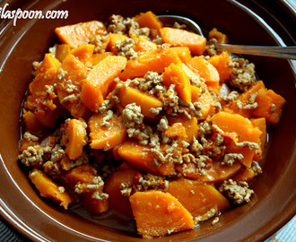 Butternut Squash with Ground Pork (Ginisang Kalabasa)