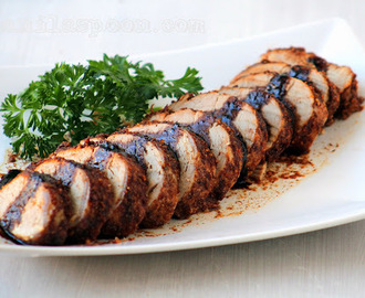Cinnamon and Orange Pork Tenderloin with Balsamic Glaze