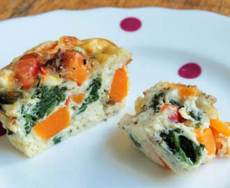 Mini crustless quiche - so quick (and almost guilt free).