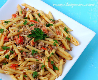 Penne with Creamy Italian Sausage and Tomato Sauce