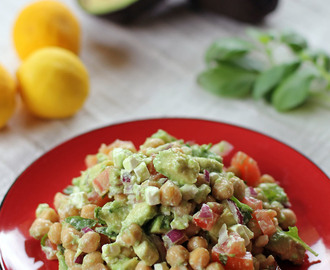 Chickpea, Feta and Avocado Salad