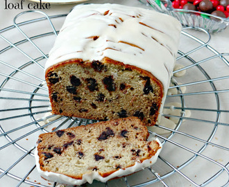 Banana Eggnog and Chocolate Loaf Cake