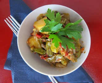 Vegetarian Delight: Colourful Casserole of Summer Vegetables