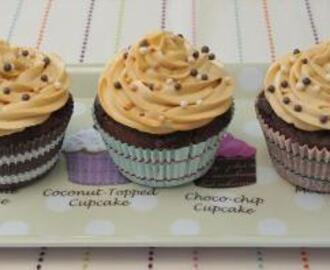 Chocolate Cupcakes with Salted Caramel Icing
