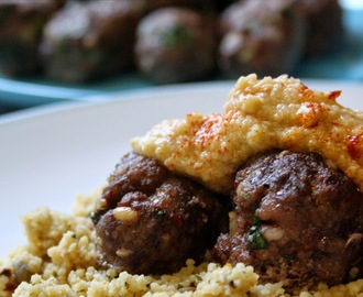 Gluten Free Lamb Koftas & Couscous with Homemade Hummus