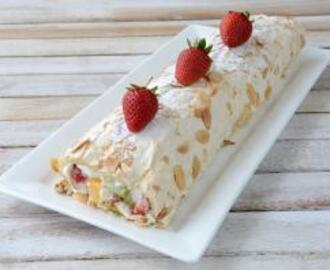 Rolled Fruit Salad Pavlova