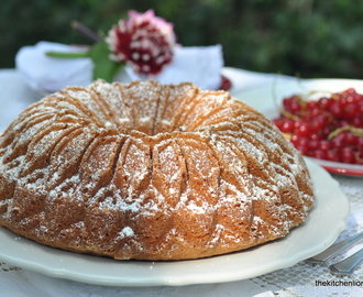 Coconut Yogurt Bundt Cake with Redcurrants