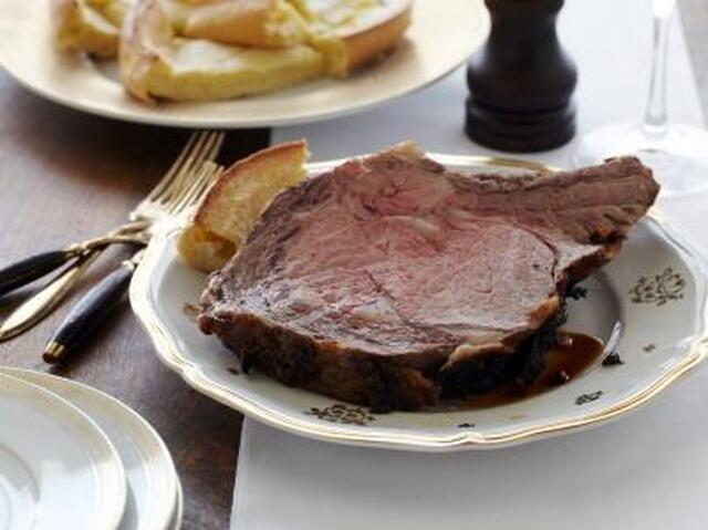 Roast Prime Rib of Beef with Yorkshire Pudding