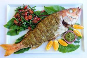 Asian Style Whole Baked Fish