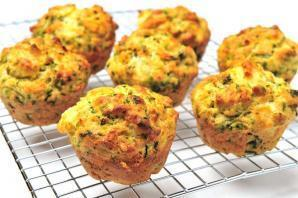 Olive Oil, Spinach and Feta Muffins