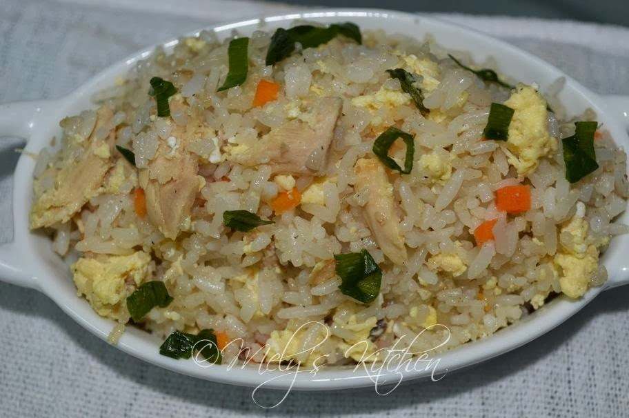 Fried Rice with Tuna Flakes and Scrambled Eggs