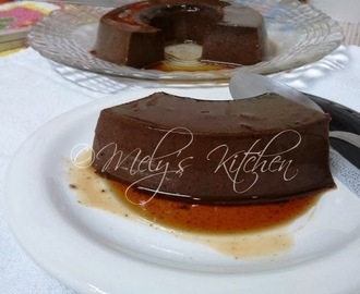 Eggless Chocolate  Flan