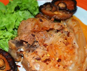Pork Chop with Orange softdrink