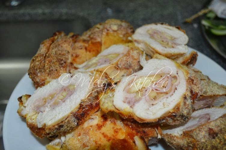 Baked Chicken Cordon Bleu