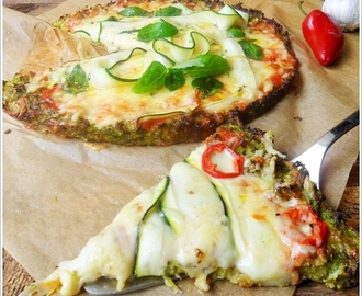 "Brokkoli ""Pizza"" mit Zucchini (glutenfrei und Low-Carb)"