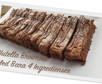 Nutella Brownies Med Bara 4 Ingredienser