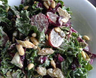 Kale & Radicchio Salad with Lemon Caper Vinaigrette