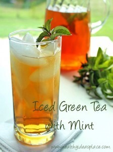 Iced Green Tea with Mint