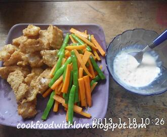 Fried Cream Dory with Mixed Veggies