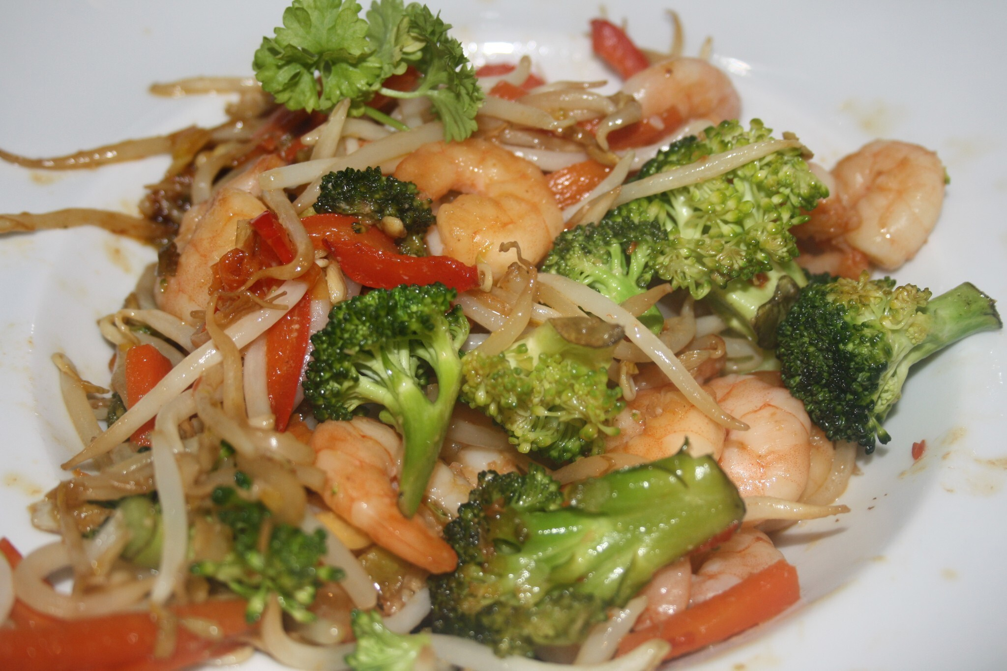 Stir-fried prawns for Chinese new year