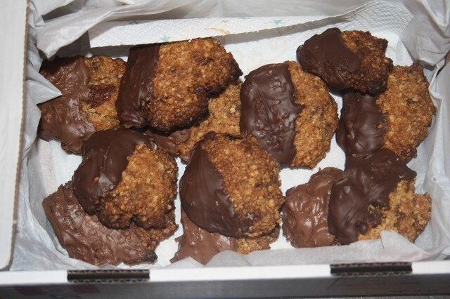 Chocolate and Ginger Oaty Cookies