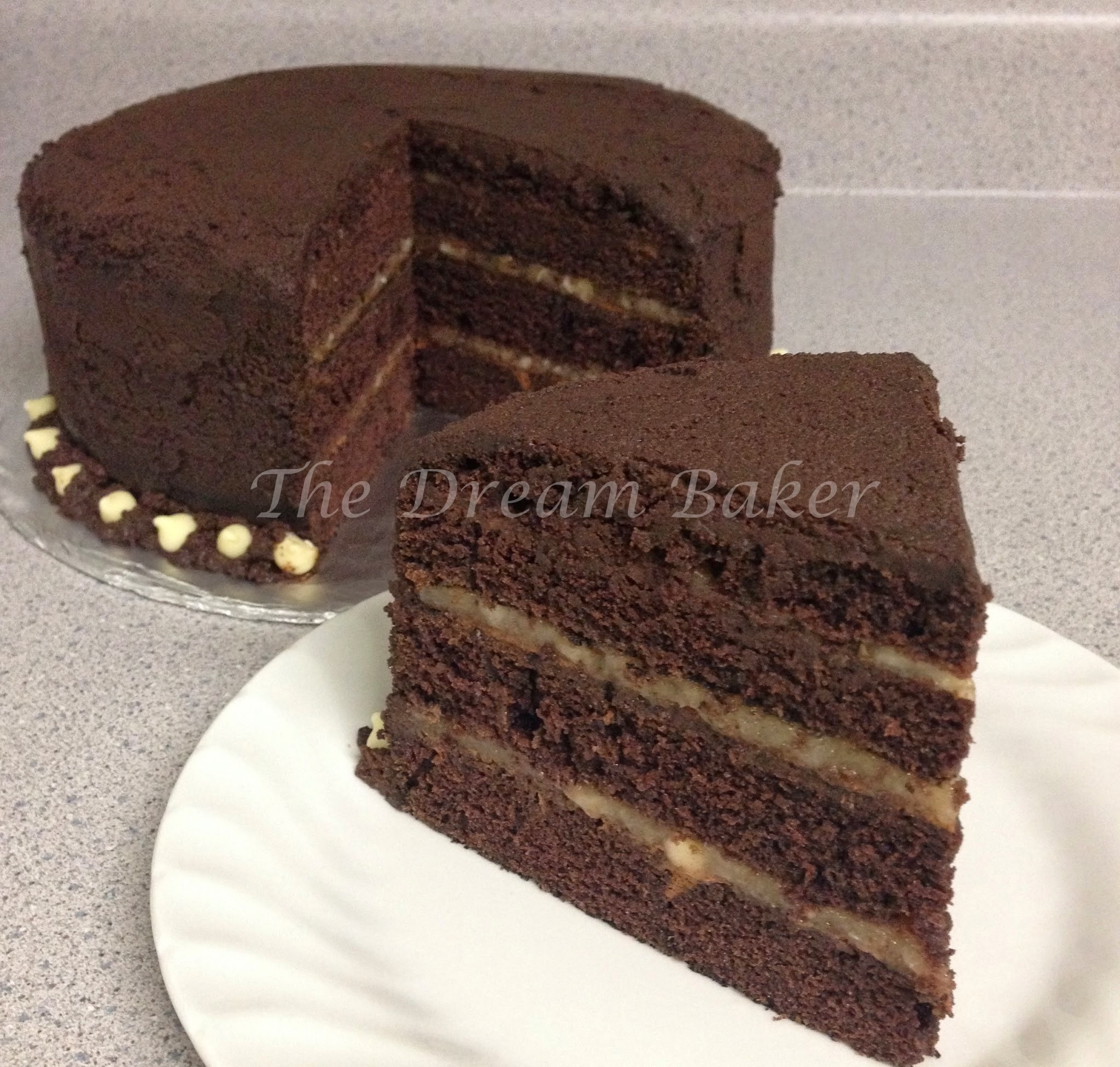 Awfully Dark Chocolate Banana Cake