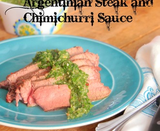 Argentinian Steak and Chimichurri Sauce
