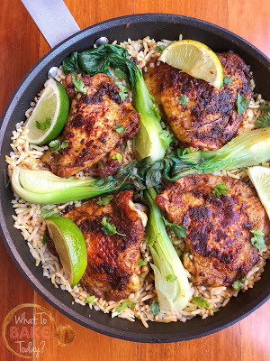 One Pan Spice-rubbed Chicken and Rice (Keto-Friendly)
