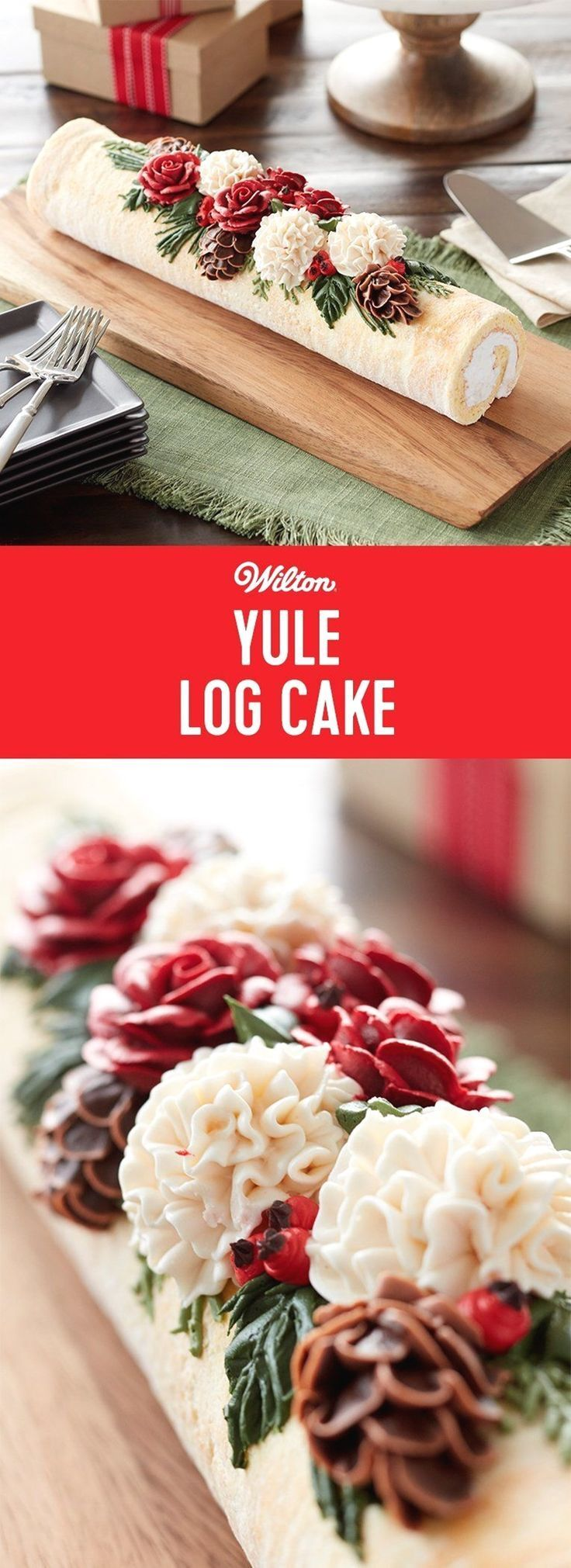 easy buttercream frosting recipe #cakedecoratingfrosting | sweet in 2018 | Pinterest | Cake, Desserts and Yule Log Cake