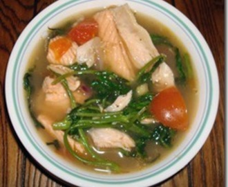 Sinigang na Isda (Salmon Fish Belly Sour Soup)