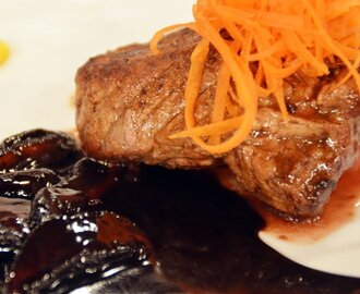 Beef Medallion with Chocolate Mushroom Sauce Recipe