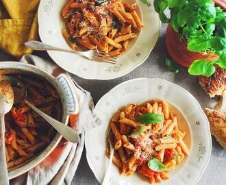 Penne all'arrabiata & Florens