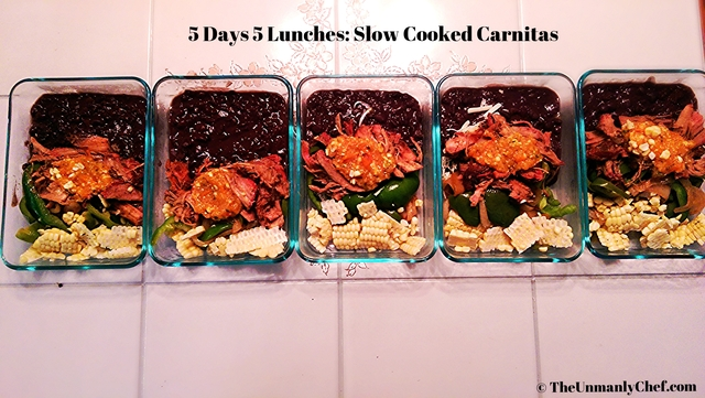 5 Days 5 Lunches: Slow Cooked Carnitas