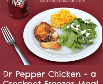 Dr. Pepper Chicken – a Crockpot Freezer Meal