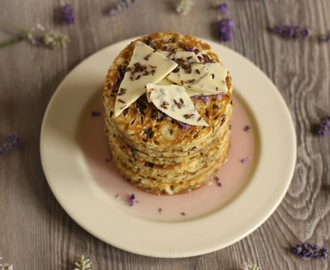 White Chocolate and Lavender Pancakes and Chocolate Bark