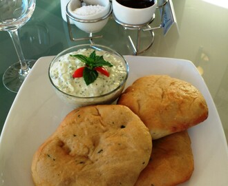 Naan Breads and Tzaziki