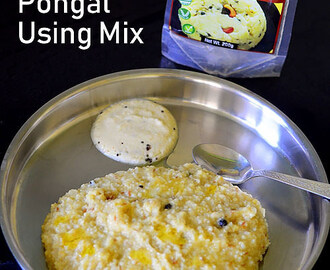 Millet Pongal Recipe Using Millet Ven Pongal Mix