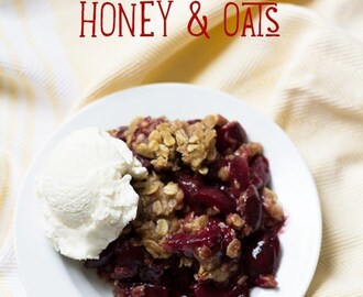 Cherry Crumble with Honey & Oats