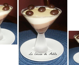 Copas de tres chocolates