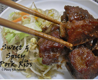 Sweet and Spicy Pork Ribs (Korean Style)