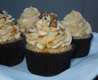 Banana Pecan Cupcakes with Maple Buttercream